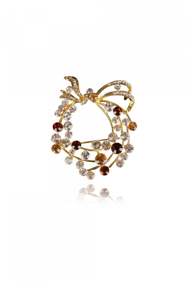 Keilah Crystal Elegant Evening Brooch
