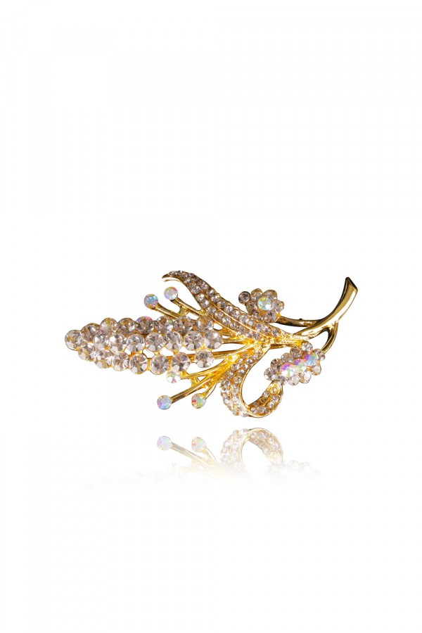 Lamis Crystal Elegant Evening Brooch