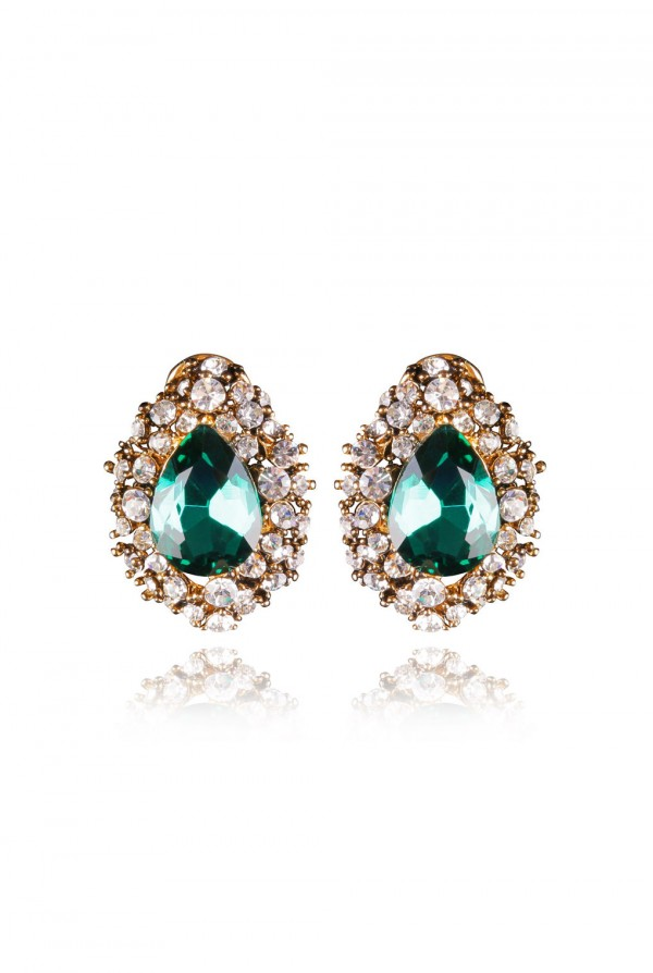 Qawiya Crystal Elegant Evening Earring