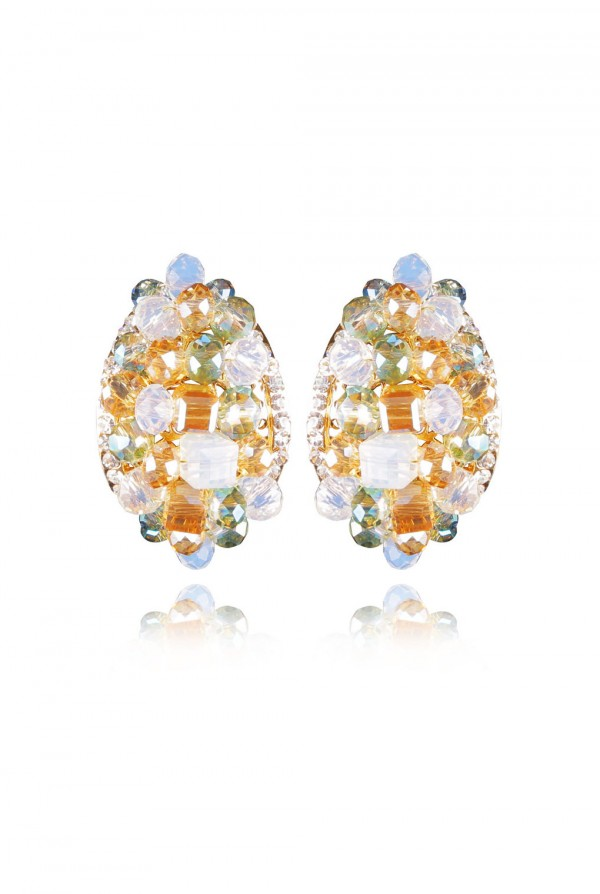 Quamar Crystal Elegant Evening Earring