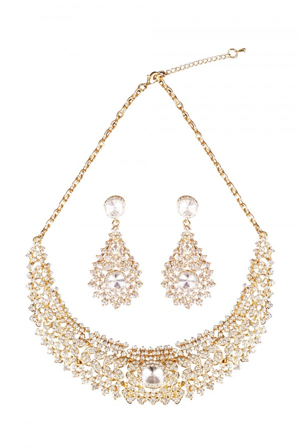 Layia Crystal Elegant Evening Neckless