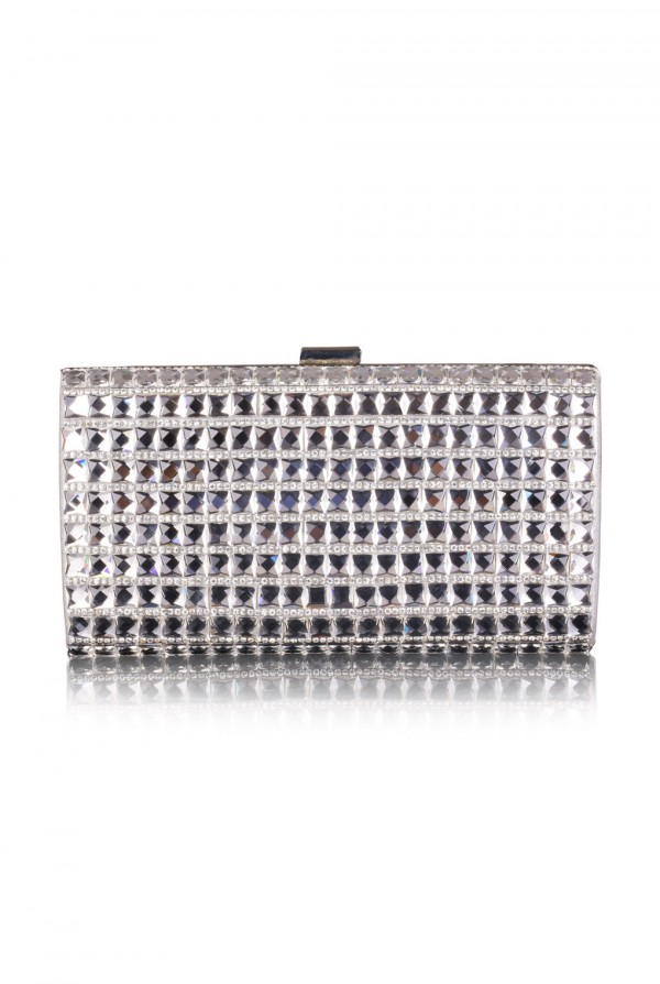 Mocha Crystal Elegant Evening Bag