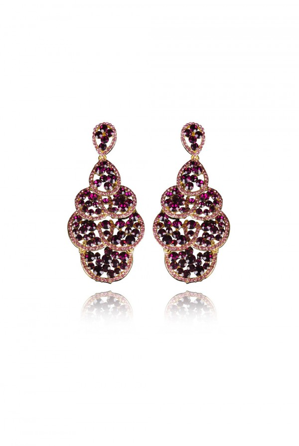 Nakeia Crystal Elegant Evening Earring