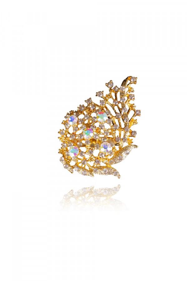 Khalifa Crystal Elegant Evening Brooch