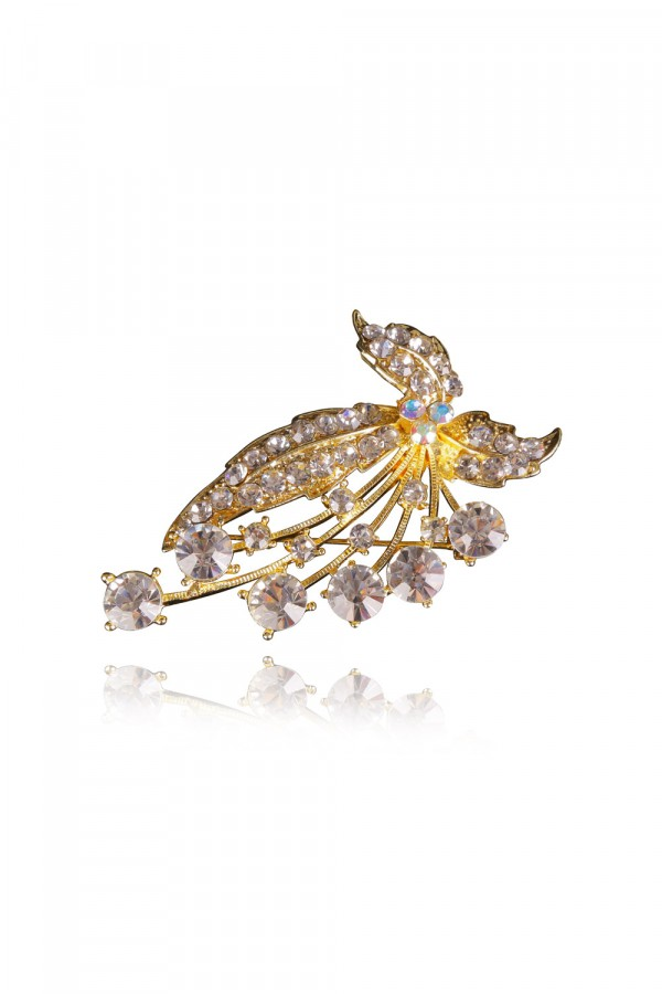 Laela Crystal Elegant Evening Brooch