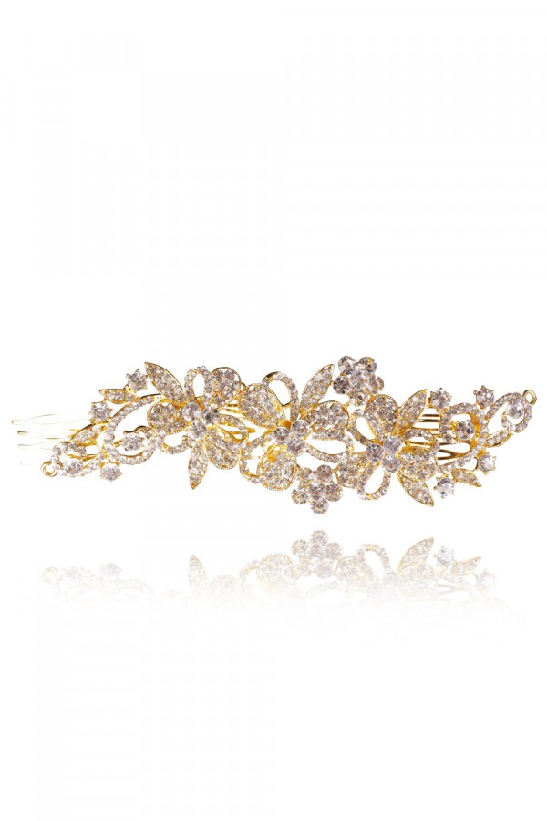 Khalilah Crystal Elegant Evening Headpiece