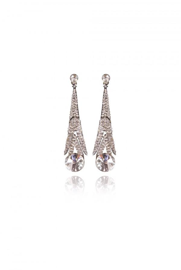 Qawaya Crystal Elegant Evening Earring