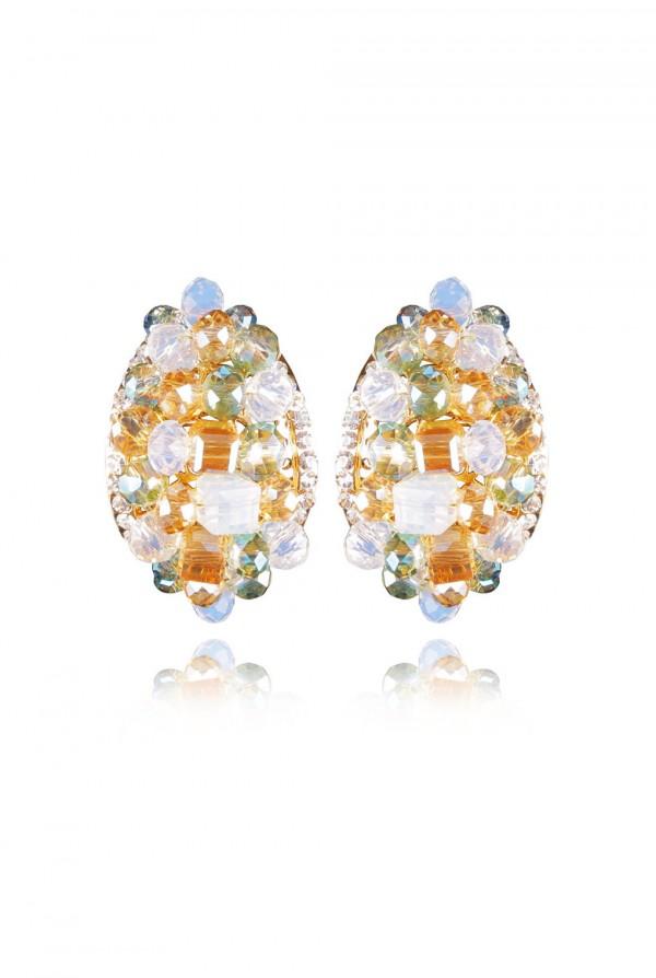 Quamar Crystal Elegant Evening Earring