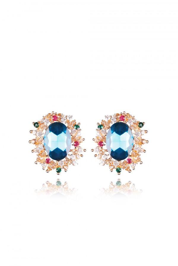 Naylila Crystal Elegant Evening Earring