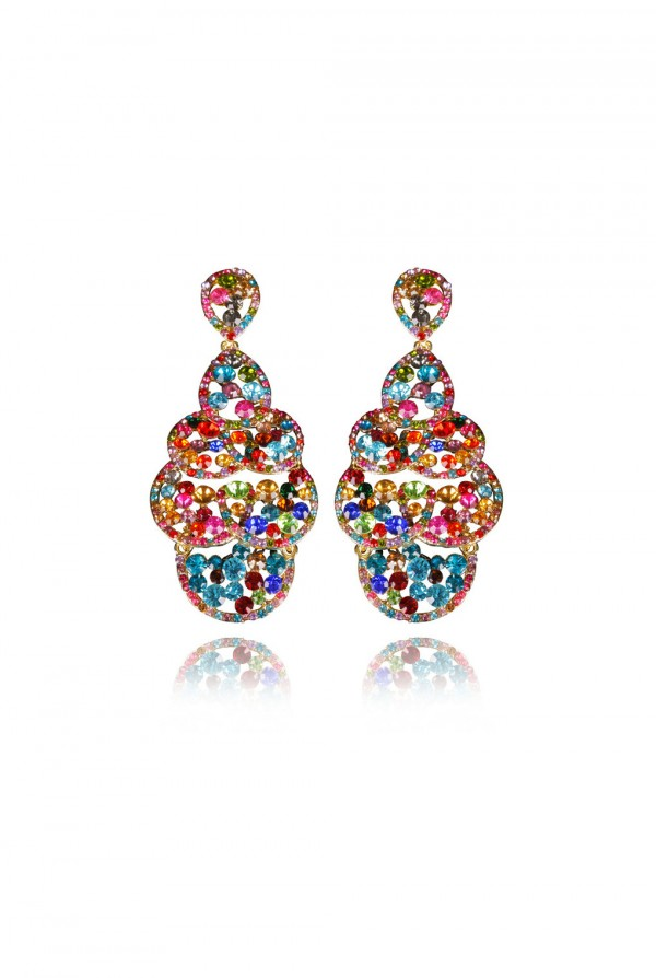 Nedira Crystal Elegant Evening Earring