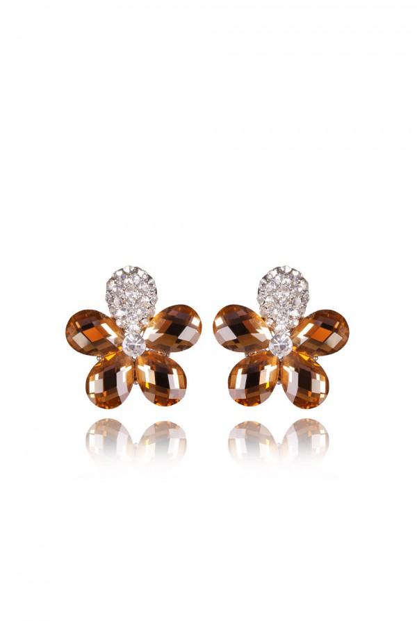 Nisa Crystal Elegant Evening Earring