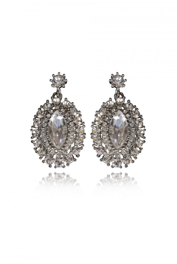 Qubilah Crystal Elegant Evening Earring