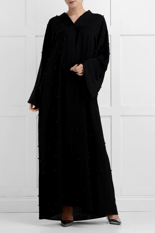 Daisha Luxury Black Pearl Abaya