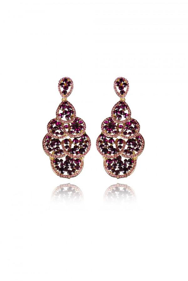 Nakeia Crystal Elegant Evening Earring