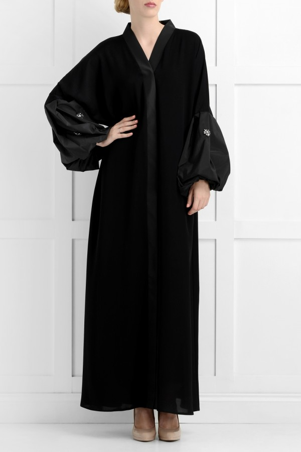 Dariya Luxury Black Abaya