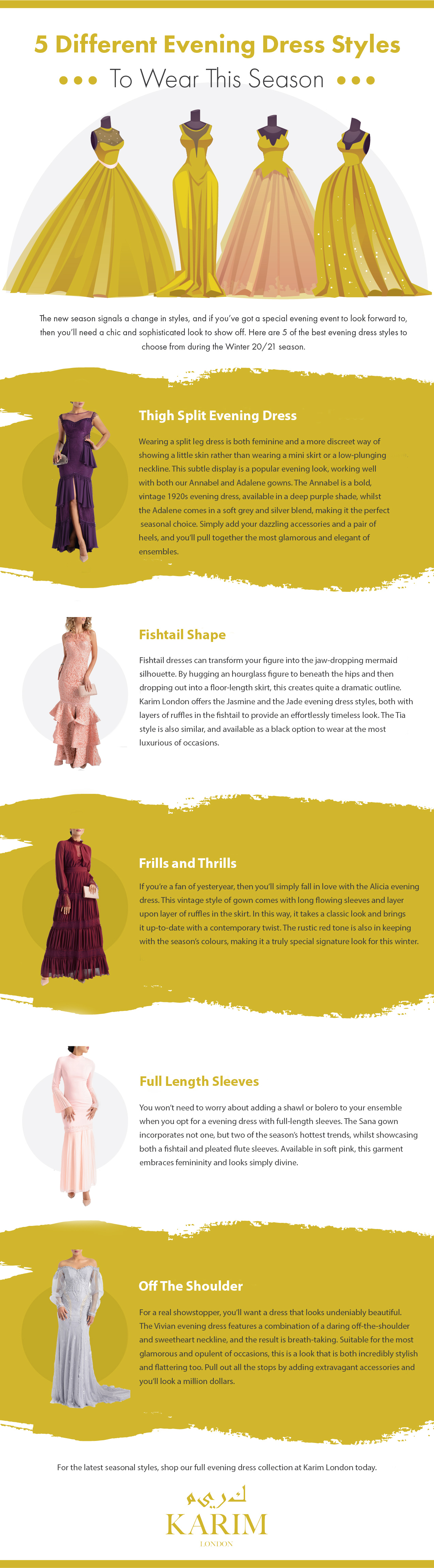 5 Different Evening Dress Styles To Wear This Season